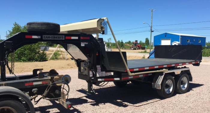 CL202GN12- Trailer 2 axles Goose Neck 14K Capacity - 12-foot