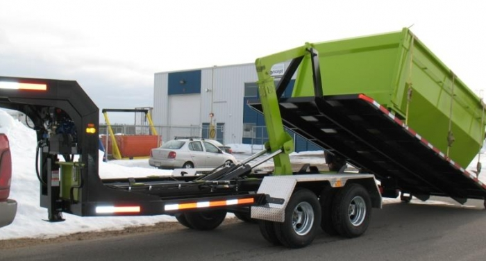 CL242DGN16 - Trailer 2 axles Goose Neck DUAL JIB 24K Capacity - 16-foot