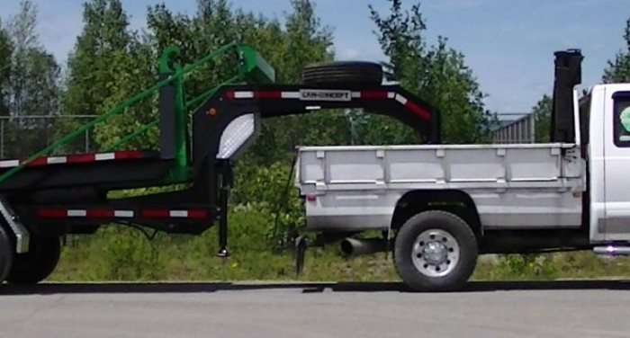 CL162GN12 - Trailer 2 axles Goose Neck 16K Capacity - for 12 to 14 foot containers