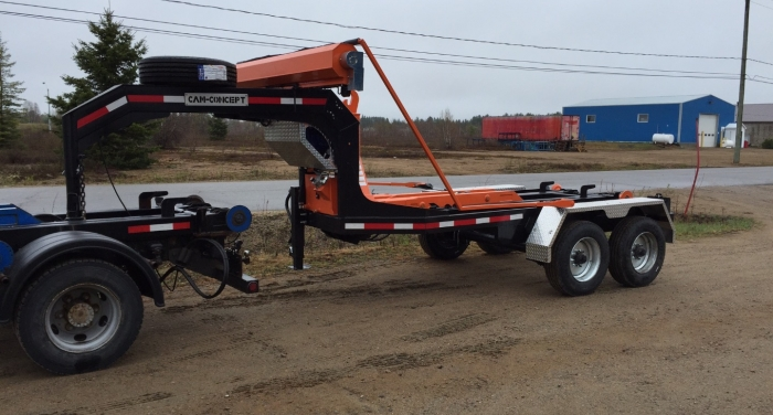 CL202GN10- Trailer 2 axles Goose neck 20K Capacity - for 10 to 12 foot containers